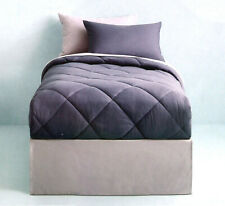 SLATE BLUE GRAY TWIN COMFORTER SHEETS SHAM BEDSKIRT 6PC BEDDING NEW