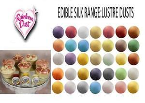 Rainbow Dust Edible Silk Range - Sparkle Glitter Lustres 100% Edible Cake Lustre