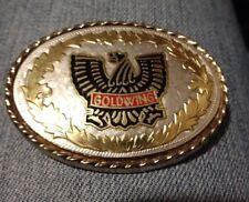Vintage Ladies GOLDWING MOTORCYCLE   BELT BUCKLE-Gold and Silver GORGEOUS