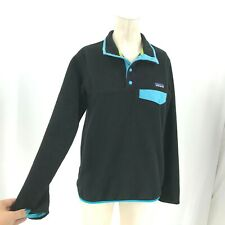 PATAGONIA SYNCHILLA - WOMEN'S SMALL - BLACK 1/4 SNAP T PULLOVER FLEECE JACKET