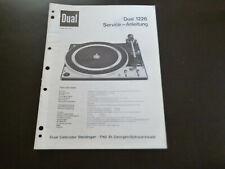 Original Service Manual Schaltplan Dual 1226