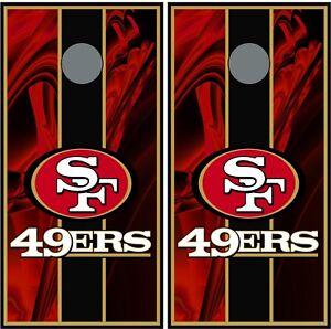 San Francisco 49ers 0206  cornhole board vinyl wraps stickers posters decals
