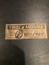 Thos Moore Possum Hollow Whiskey Vintage Matchbook Cover Ruffsdale Dist Pa Penn