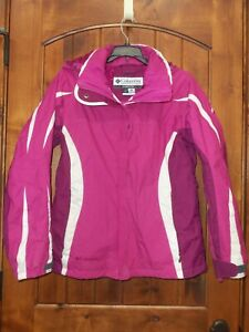 COLUMBIA WHIRLIBIRD PINK SNOWBOARDING SKI JACKET HOODED WOMEN S GIRLS XL