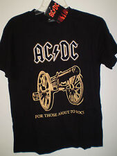 Ac/Dc Acdc Concert Tour T Shirt Short Sleeve (S) Black For Those about to Rock
