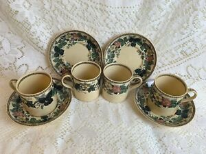 Wedgwood Porcelain Demitasse or Childs Cup & Saucer X4 Beautiful!
