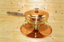 Copper Brass Chafing Dish / Double Broiler USED Complete with Tray VTG