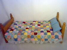 "Yo-Yo medium doll quilt kit for doll bed 10x10"" - 10x12"" mixed various colors (C"