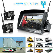 Bus Truck Dual Digital Wireless Systems Front Back Rear View Monitor/Camera kits