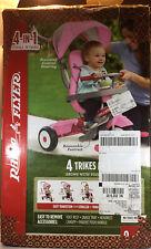 Radio Flyer 481PZ 4-in-1 Stroll N Trike - Pink Stroller To Tricycle