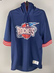 Mitchell & Ness Mens Houston Rockets Hooded Jersey Size Large