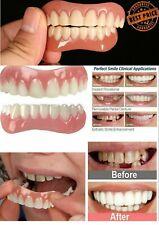 2 Pieces Top + Bottom Dental Veneers False Teeth Snap On Smile Cosmetic Denture