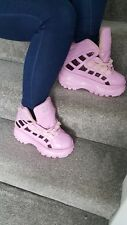 Pink Rock Walk Platform Trainers Boots Shoes - UK 4  37  90's Spice Girl Buffalo