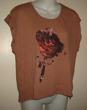 Women's insight cuts like a knife W/ Rose T-Shirt Tank Top Size 4 S/M