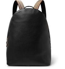 PAUL SMITH Signature MULTI STRIPE Black Leather Backpack Rucksack Bag
