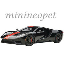 AUTOart 72945 2017 FORD GT 1/18 SHADOW BLACK with ORANGE STRIPES