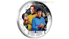 1 $ Dollar Star Trek Enterprise Captian Kirk & Spock Tuvalu 1 oz Silber 2016 PP
