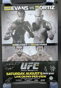 Official UFC 133 Autographed Poster, Tito Ortiz Poster, Pride Fc