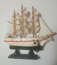 Hand Crafted Wooden Sailboat Decoration 6