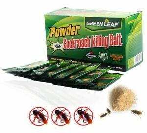 ?ORIGINAL? Cockroach Killing Baits Powder GREEN 1/2/5 Box 50 Pcs(5 gram)