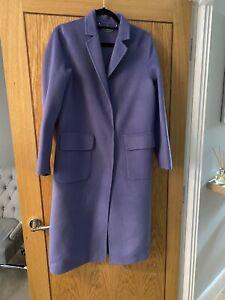 United Colours Of Benetton Blue Wool Blend Coat 10