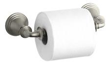 New Toilet Devonshire Tissue Holder, Double Post, Vibrant Brushed Brushed Nickel