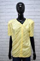 VALENTINO STUDIO Camicia Maglia Blusa Donna 48 Shirt Manica Corta Seta Vintage