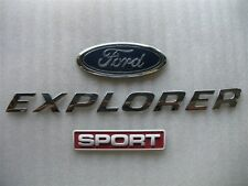 2000 FORD EXPLORER SPORT REAR TRUNK CHROME EMBLEM LOGO NAME SET USED 98 99 00 01