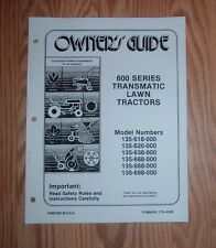 MTD 135-698-000  LAWN TRACTOR  OWNERS MANUAL W/ ILLUSTRATED PARTS LIST