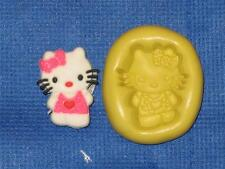 Hello Kitty Push Mold Food Safe Silicone #822 Jello Gumpaste Fondant Wax Soap