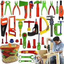 34 Pcs Plastic Repair Tools Set Baby Kids Boys Toys Craftsman Pretend Play Set