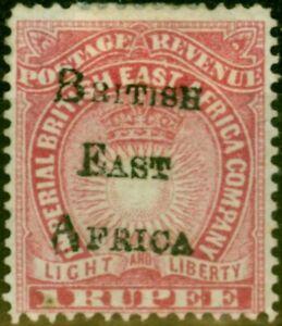 B.E.A KUT 1895 1R Carmine SG43 Fine Mtd Mint (2)