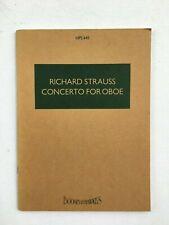 Noten. R. Strauss. Concerto for Oboe.   Taschenpartitur.
