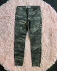 NWT womens skinny camo stretch cargo jeans