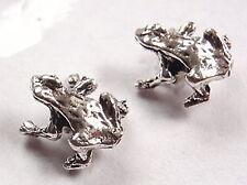 Sitting Frog Stud Earrings 925 Sterling Silver Corona Sun Jewelry