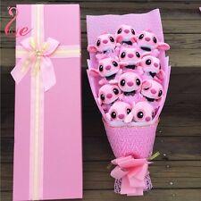 Bunch of 11 pink Lio Stitch ANGEL Dolls Toys flowers Valentine Creative Gift Box