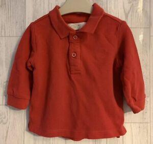 Boys Age 6-9 Months - Zara Red Polo Shirt