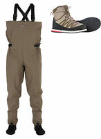 Greys New Strata CT Stocking Foot Breathable Chest Waders + CT Wading Boots