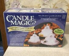 Halloween Candle Making Kit Reusable Mold Included Ghost Trio Boo Spider