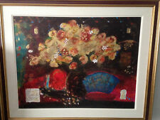 "Roy Fairchild ""Golden Flowers"" Serigraph on Paper Free USA Shipping COA"