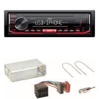JVC KD-X262 USB Autoradio WMA WAV Einbauset für Opel Astra F G Corsa B Zafira A
