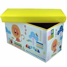 Happy Kids Foldable Ottoman Storage Box Chairs Animals Design