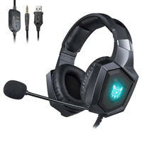 Onikuma K8 Wired Stereo Over Ear Gaming Headset with RGB Light 3.5mm Audio Jack