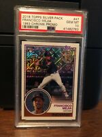 2018 Topps Silver Pack 1983 Chrome Francisco Mejia Rookie Card #47 PSA 10