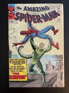 Amazing Spider-Man #20, First Appearance of Scorpion!! Silver Age Spidey Key