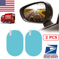 2Pcs Car Rearview Magic Mirror Waterproof Film Anti-Glare Rainproof Protective