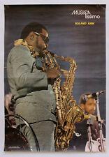 Vintage 70's ROLAND KIRK Original Poster Portuguese Music Magazine MUSICAlíssimo