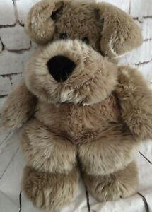 Vintage Commonwealth Big Brown Dog Plush JUMBO 24 Inch Bow