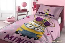 NEW MINIONS 05 PINK Single Bed Duvet Cover Set 100% COTTON.