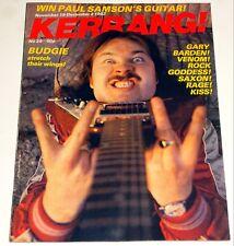 KERRANG Magazine 29 Nov 1982 Budgie Venom Ozzy Ad Plasmatics Ad Hanoi Rocks Kiss